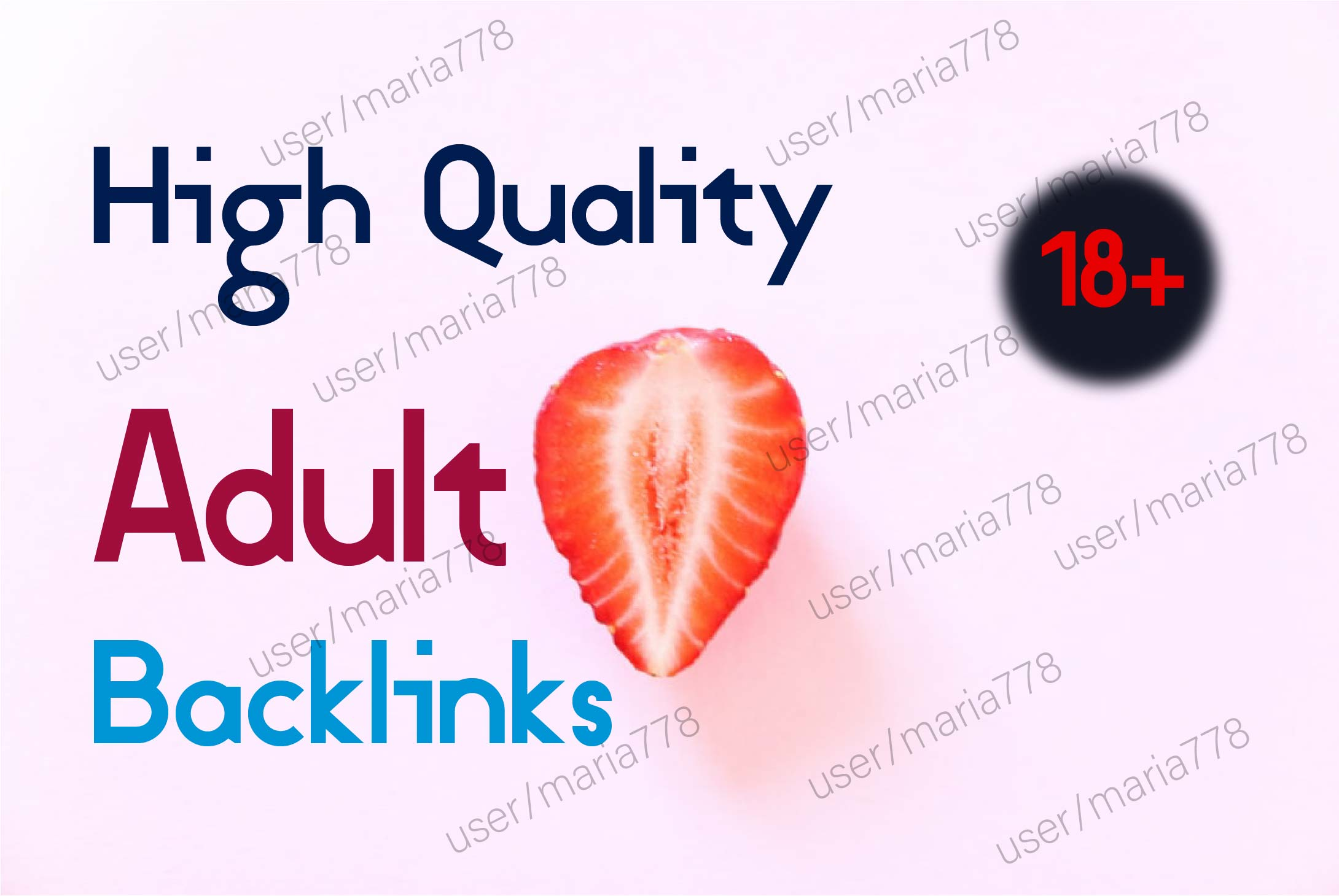 create 300+ high quality adult backlinks for your website and google ranking seo