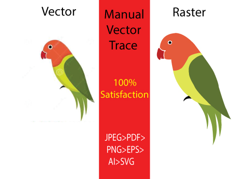 i will do vector trace earlier & redraw recreate image & logo in 1 hour