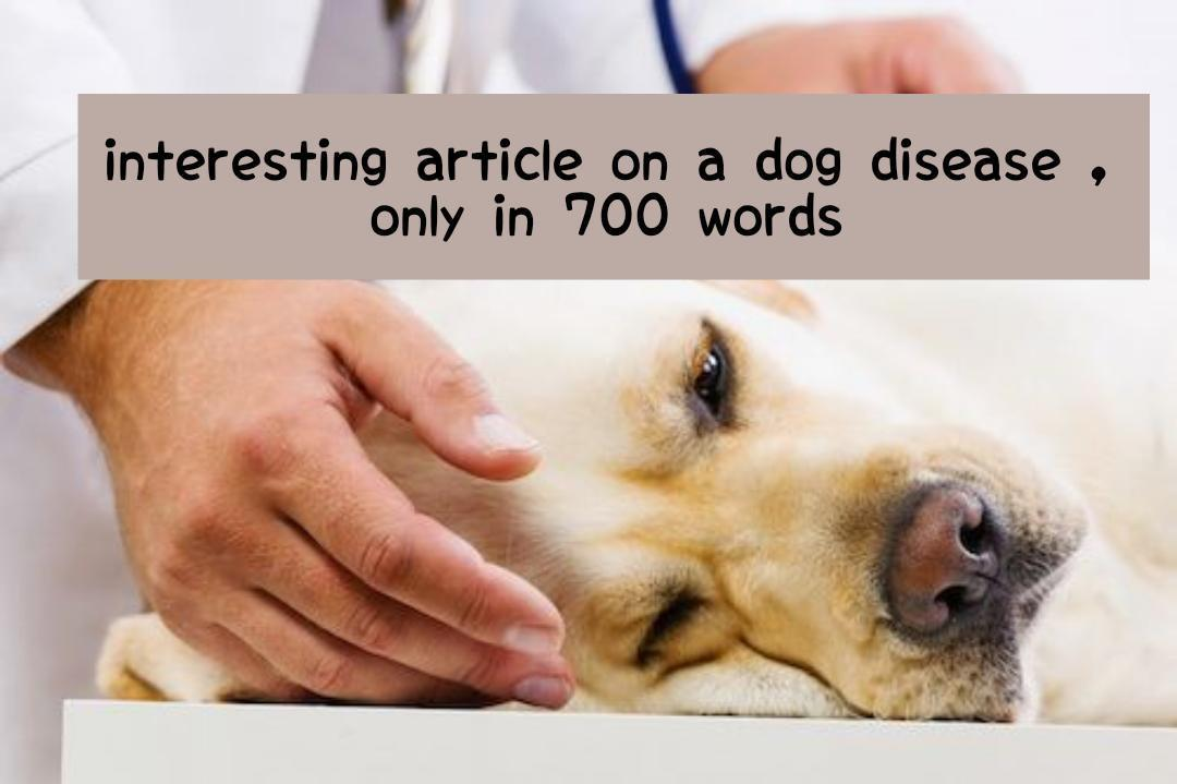 I will give you an article about dog disease, only in 700 words