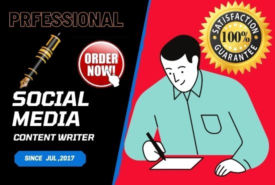 I will be your social media content writer