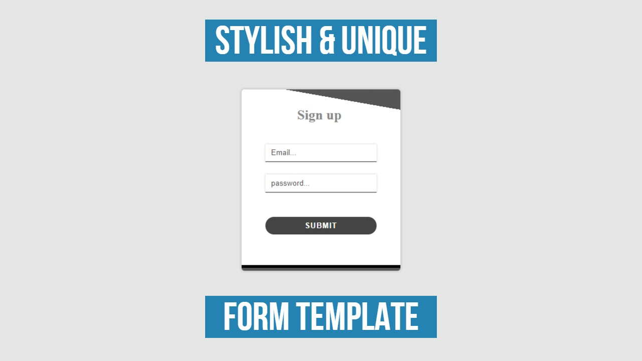 beautiful Stylish And Unique Form Template