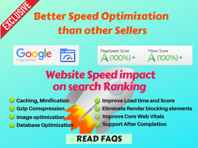 I will speed up your website for gtmetrix and google page speed
