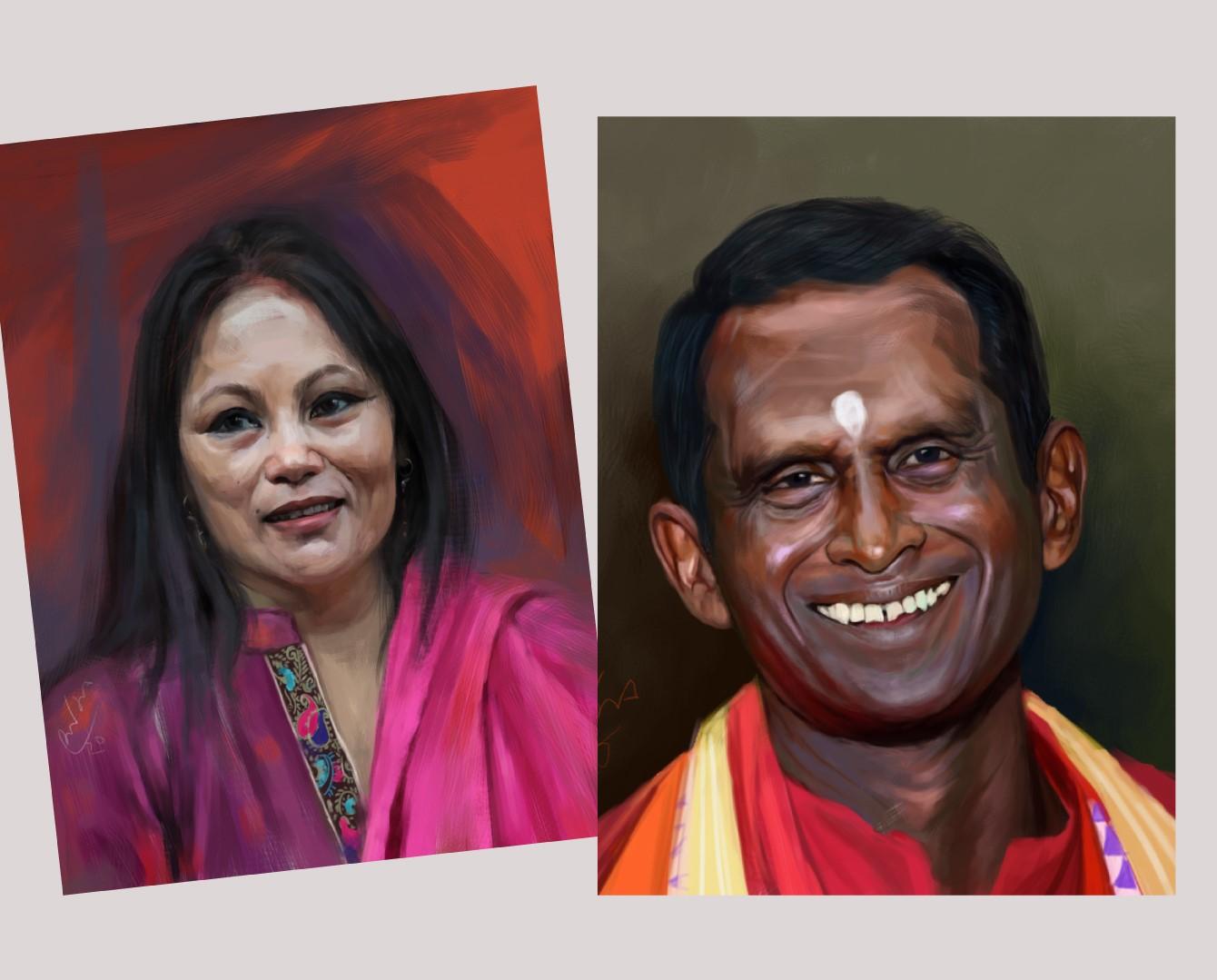 digital portrait painting artist