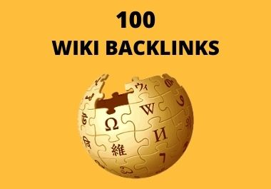 Provide You 100 High Authority Wiki Backlinks Mix Profile and Articles