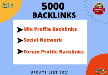 Provide you 5k social,  blog,  forum,  wiki,  ping and article mix backlinks