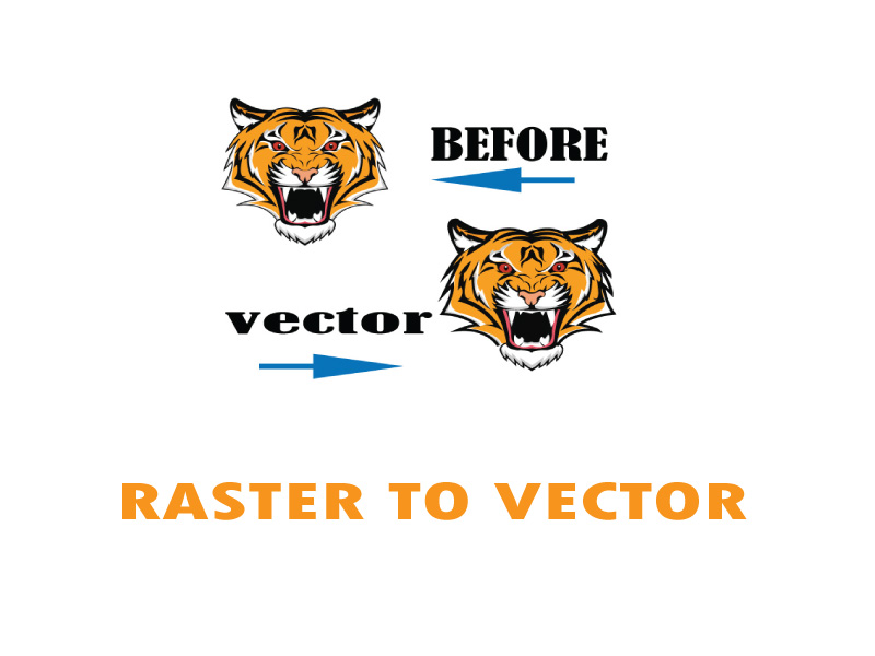 I will convert raster to vector within 2 hour