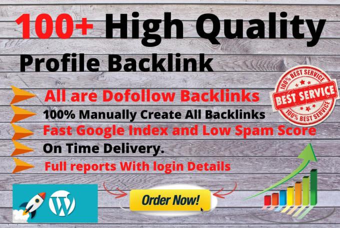 I will do 100 exclusive profile backlinks DA 90 plus manually