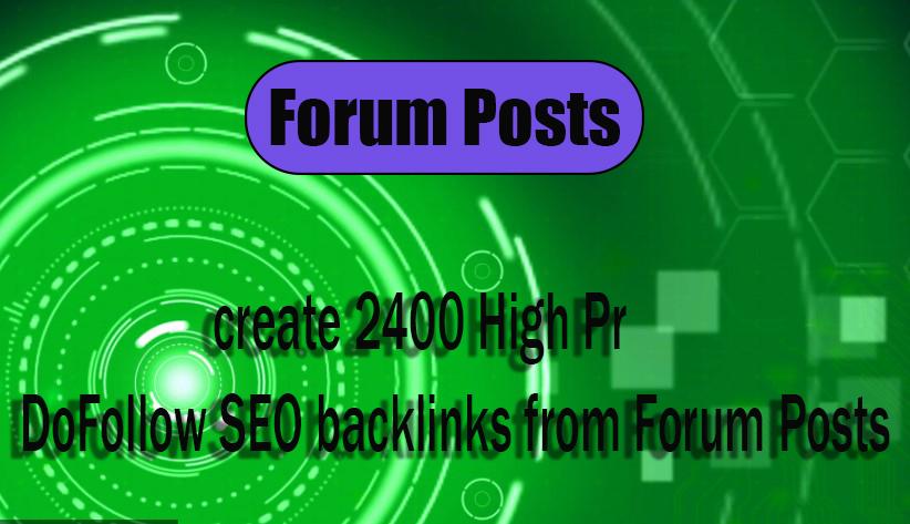 create 60 High Pr DoFollow from Forum Posts backlinks