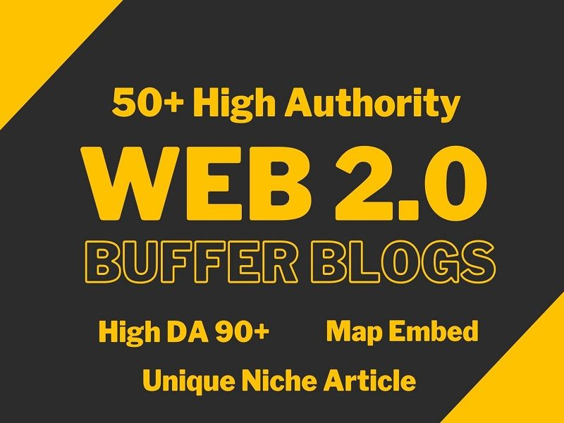 I will make 50 High quality Web2.0 Backlinks For your Website Ranking