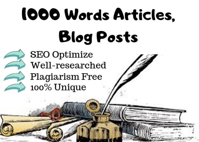 i will write 1000+ words SEO optimized,  plagiarism free and unique article for your