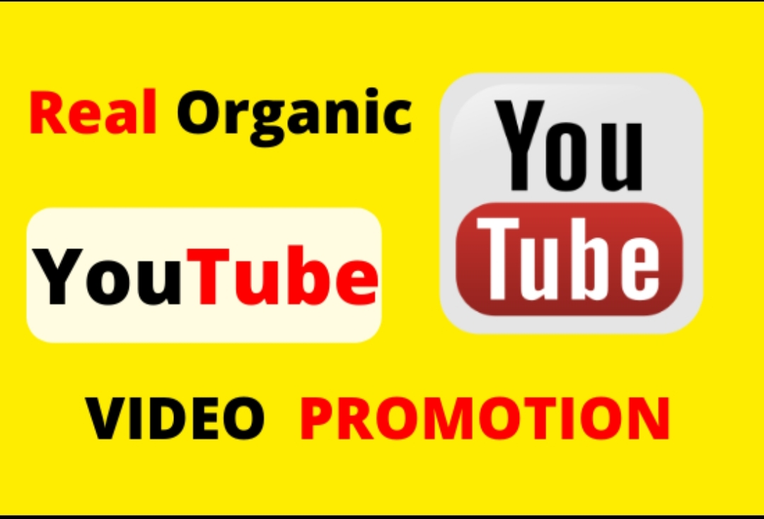 I will provide organic YouTube video promotion