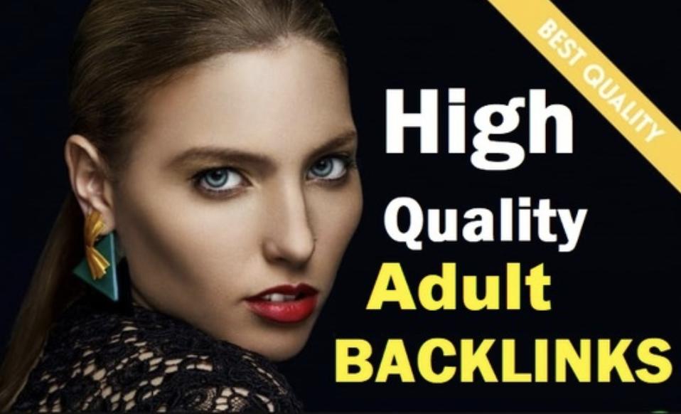 I will do 60 high DA adult niche backlinks