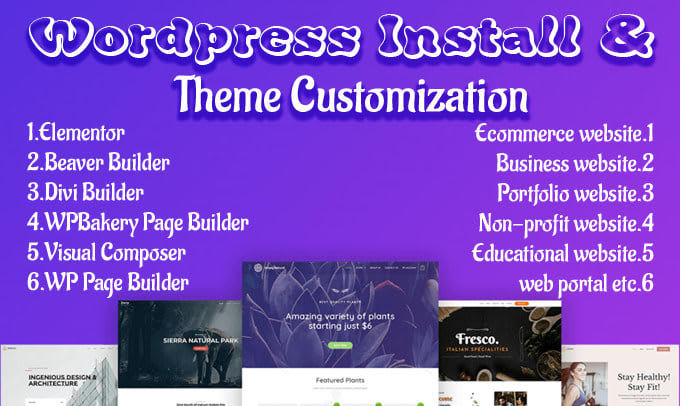 I will customize and redesign any wordpress website