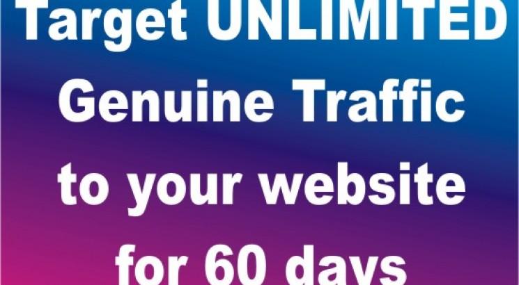 Target UNLIMITED Genuine Webtraffic To Your Website or Offer