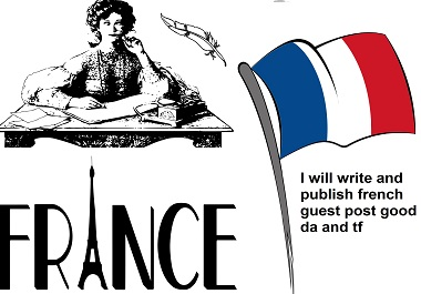 I will write and publish french guest post good DA and TF