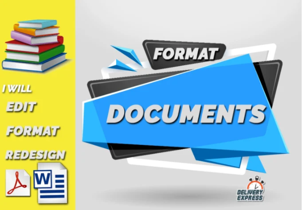 Format amazon kindle KDP E-Book Redesign Edit convert Word Docs