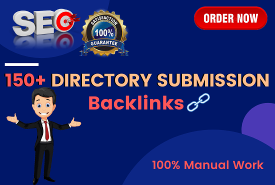I will Provide 150+ Manually Directory Submission Backlinks for SEO