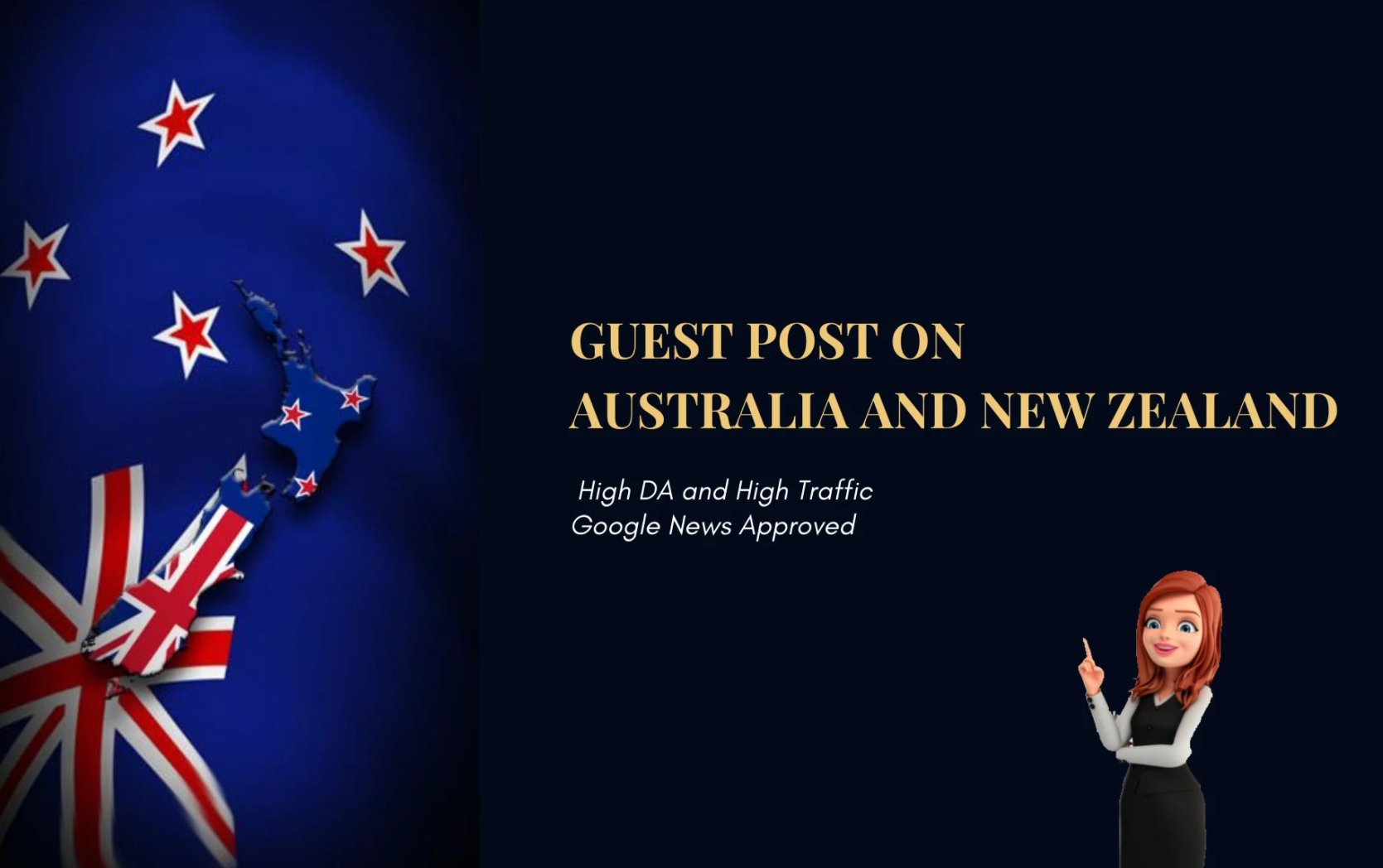 I will do guest posting on australia and new zealand sites