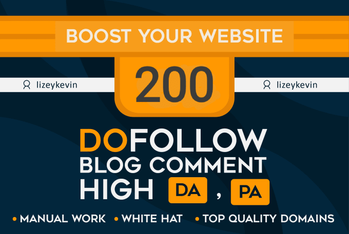 provide Backlinks High quality 200 Dofollow blog comments