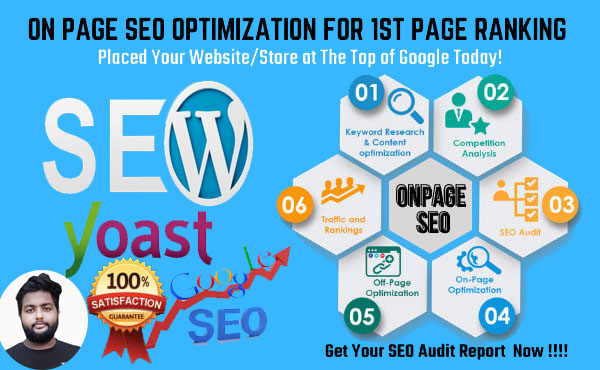 I will do wordpress yoast SEO on page optimization,  images alt tags and schema markup