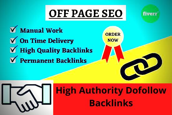 I will build high authority 50+dofollow SEO Backlinks