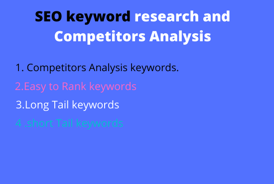 I will do150 premium SEO keyword research and competitor analysis