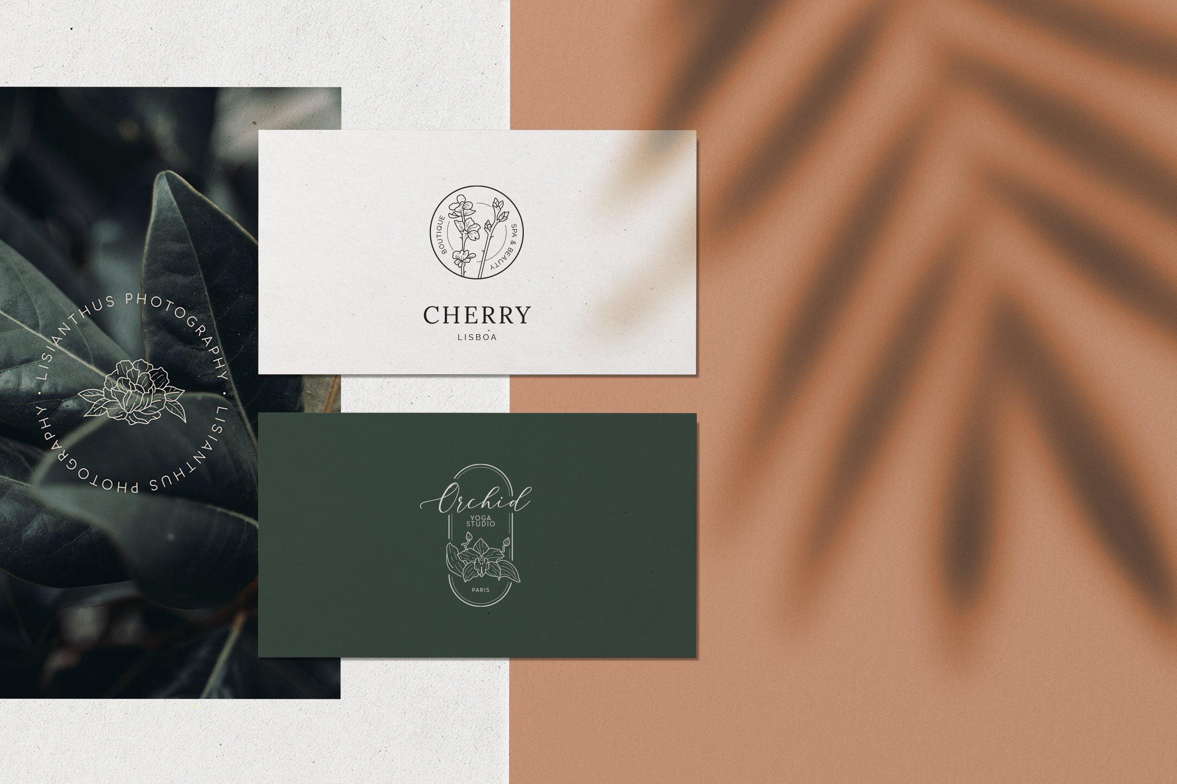 Floral Logo Kit design high quality