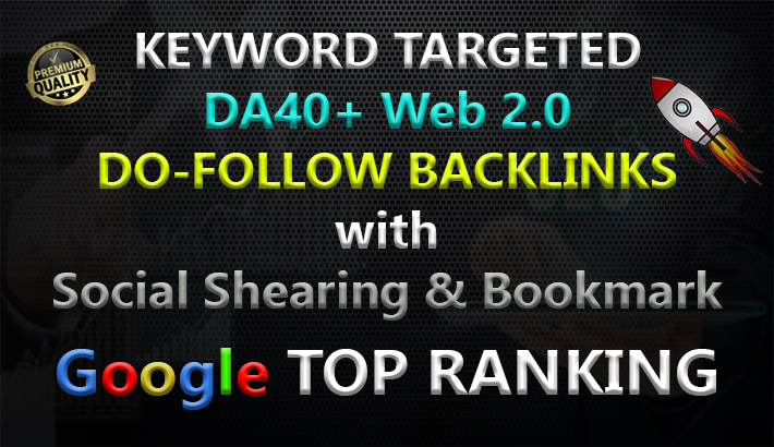 I create 2500+ web2.0 DA40+ do-follow quality backlinks for your website.
