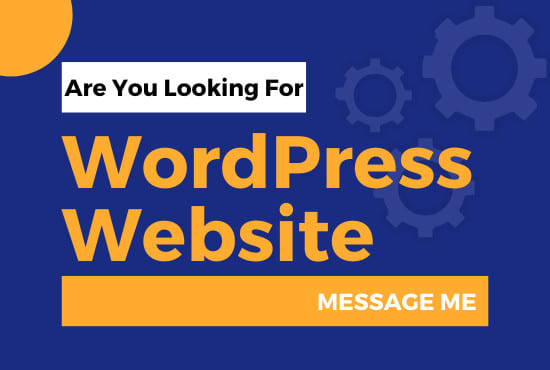 I will build and design a business WordPress website for you