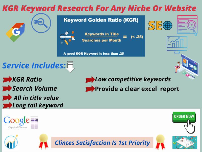 I Will Do 30 Best Pofitable KGR Keyword Research For Any Niche