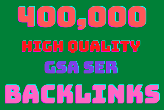 I will make 400k highly verified backlinks your website Rangking on google