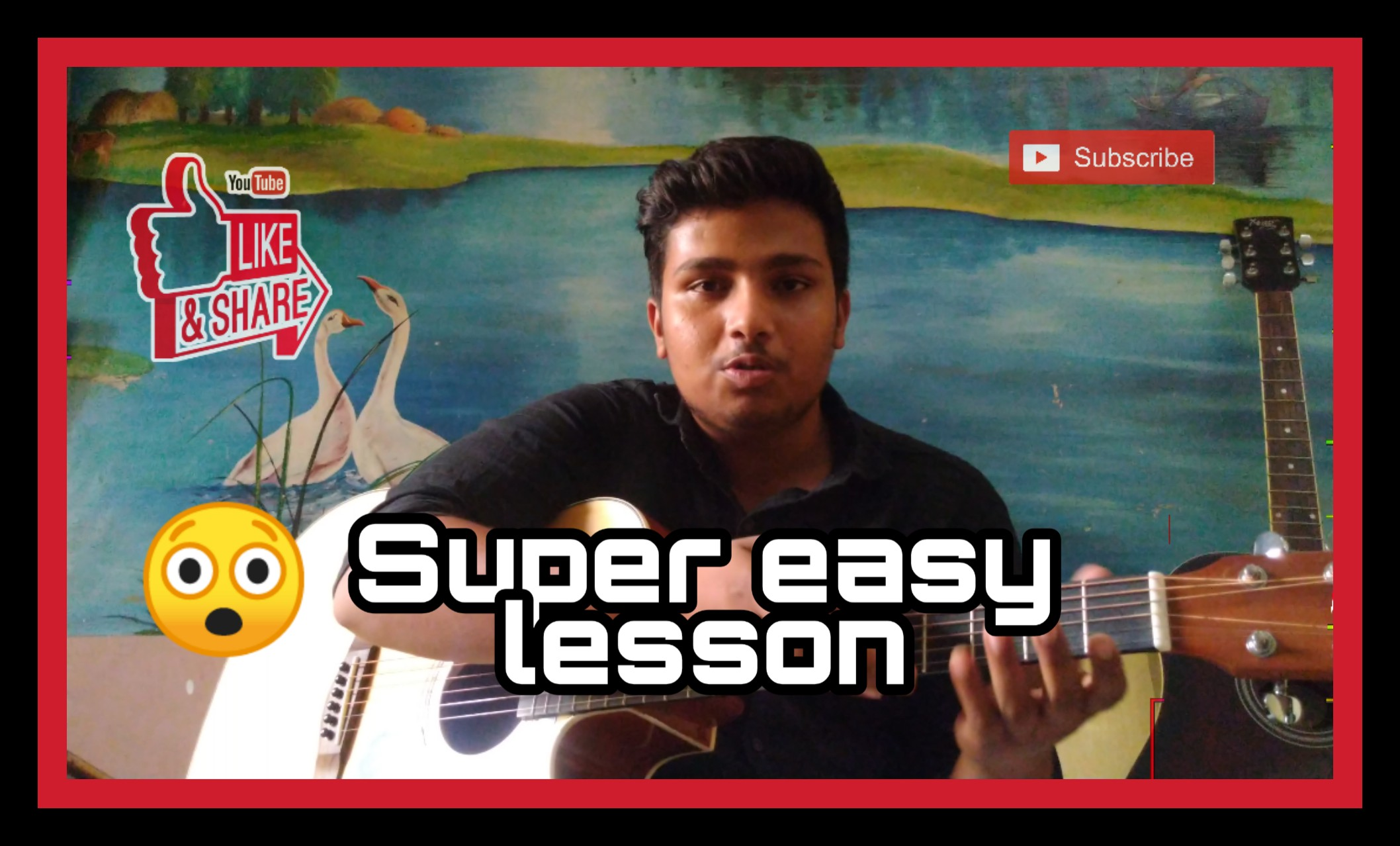 Beginners guitar lesson very easy to learn guitar in simple way