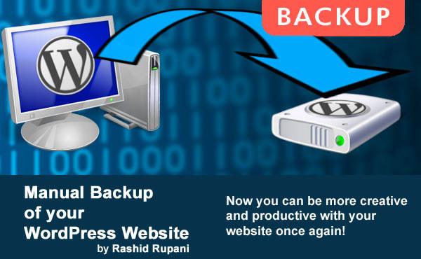 I will create a full manual backup your wordpress website
