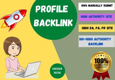 I will do 100+ manual high authority SEO profile back links