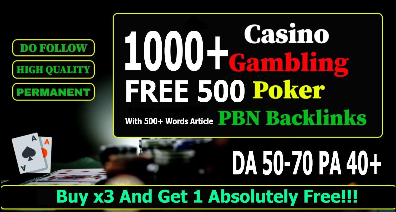 Get 1000 Web 2.0 Casino,  Gamebling,  Poker PBN Dofollow Backlinks improve your website ranking