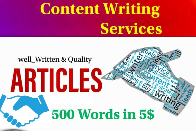 I will write articles in all fields in English or Spanish without errors,  the highest quality SEO