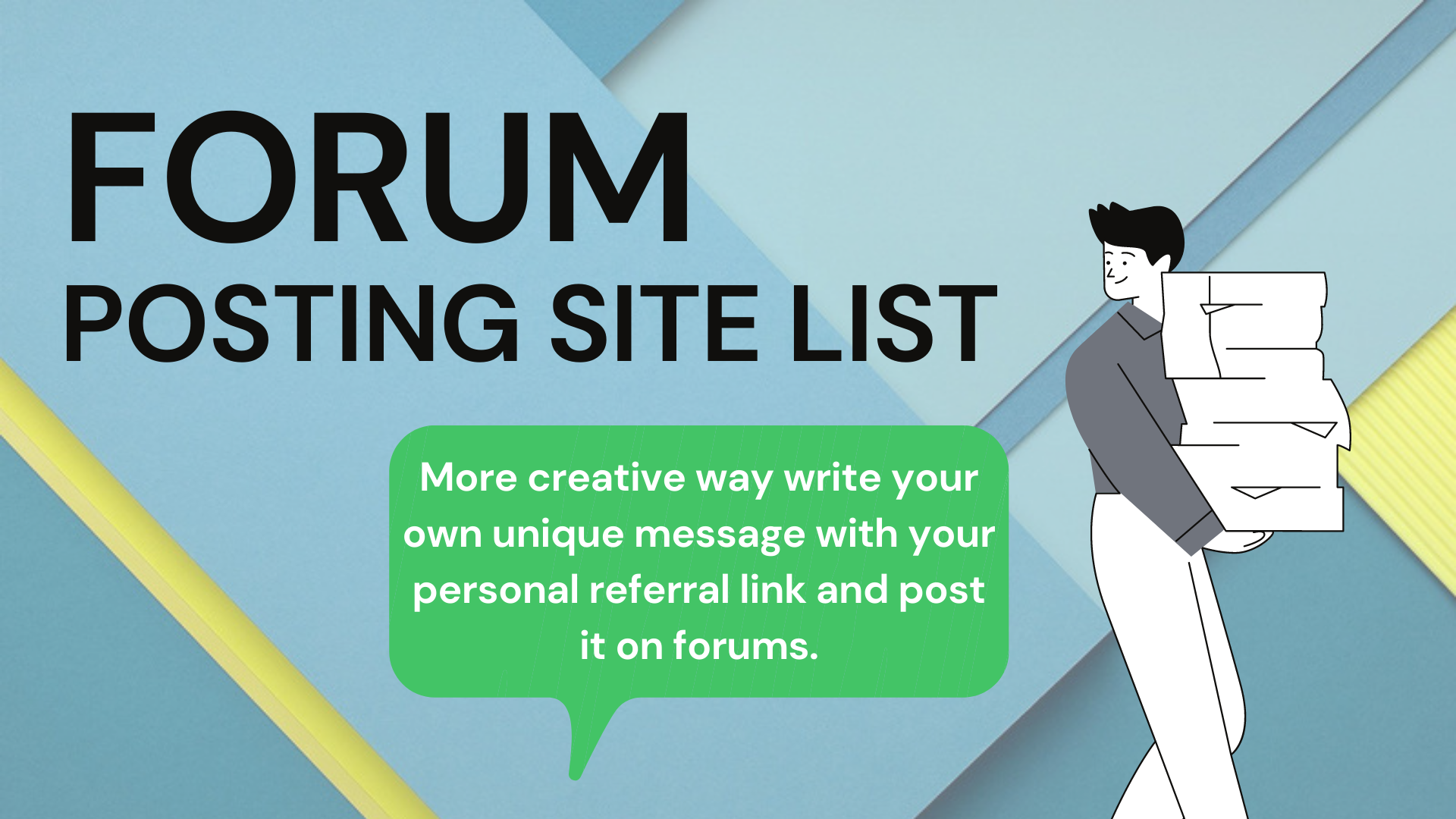 100+ lists forum posting sites to support search marketing for your High PA50 - DA50