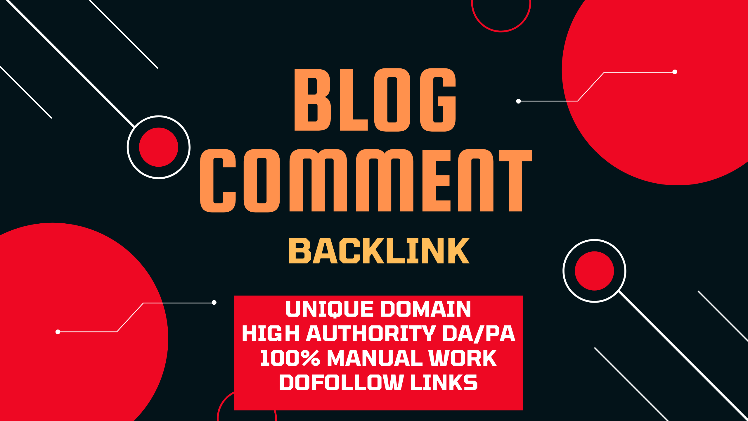 I will manually create 100 Dofollow blog comments with high DA PA.