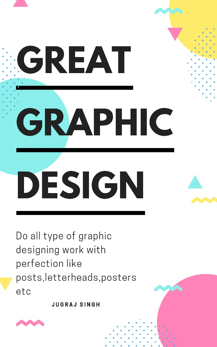 I am a graphic designer and do jobs like post making,  logo making etc and satisfy my clients