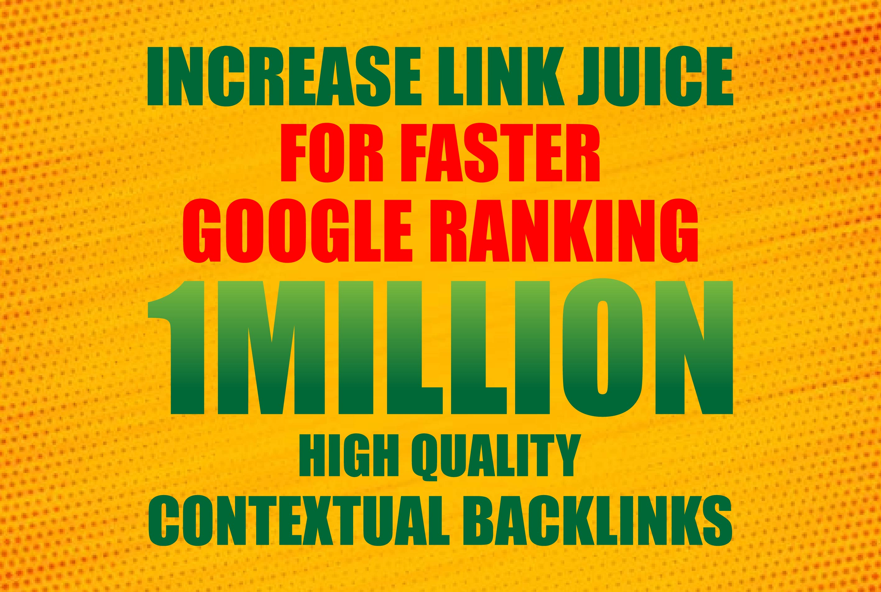 Do 1Million HQ Contextual Backlinks