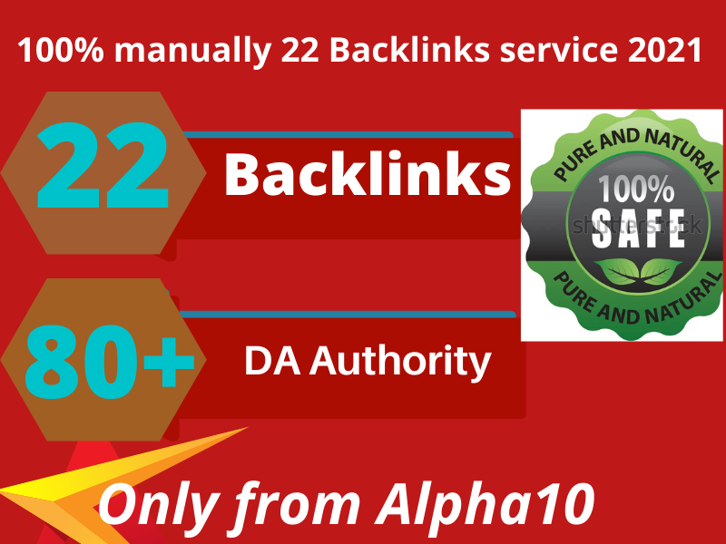 I will build 22 high quality da 80+ Seo backlinks for Your google Ranking