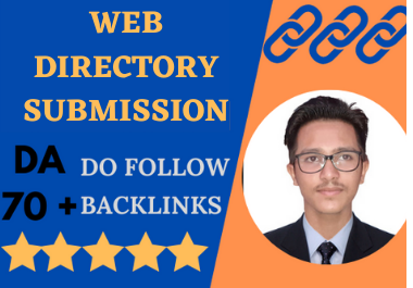 I will create manually web directory backlinks for your business