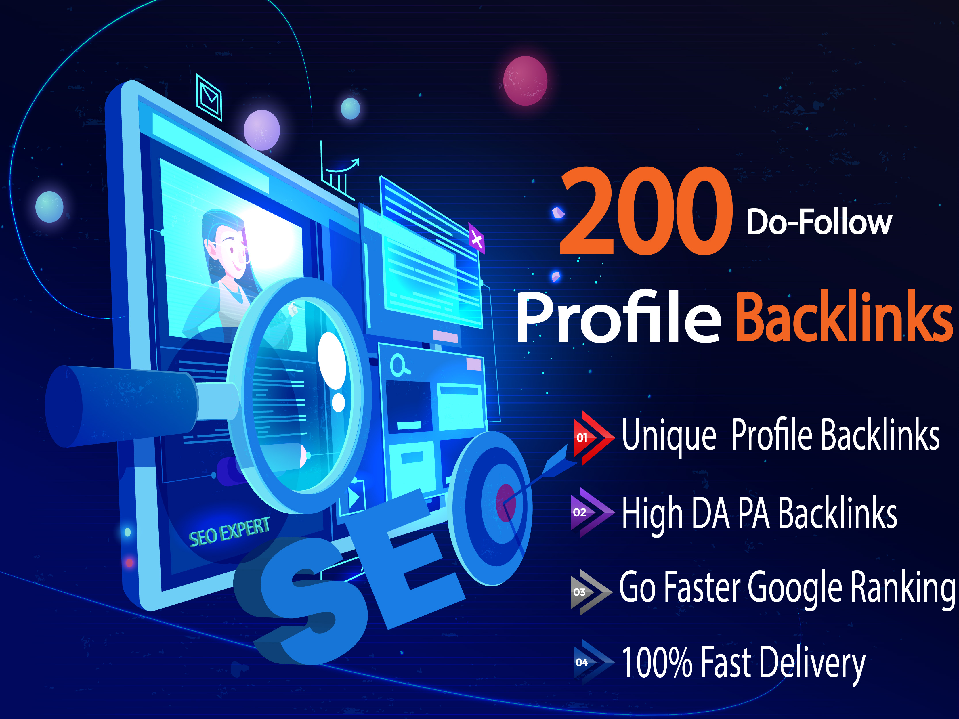I Will Create Manually 200 High Profile Backlinks for Permanently