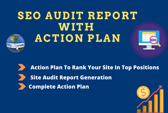 I will do website SEO audit report with action plan
