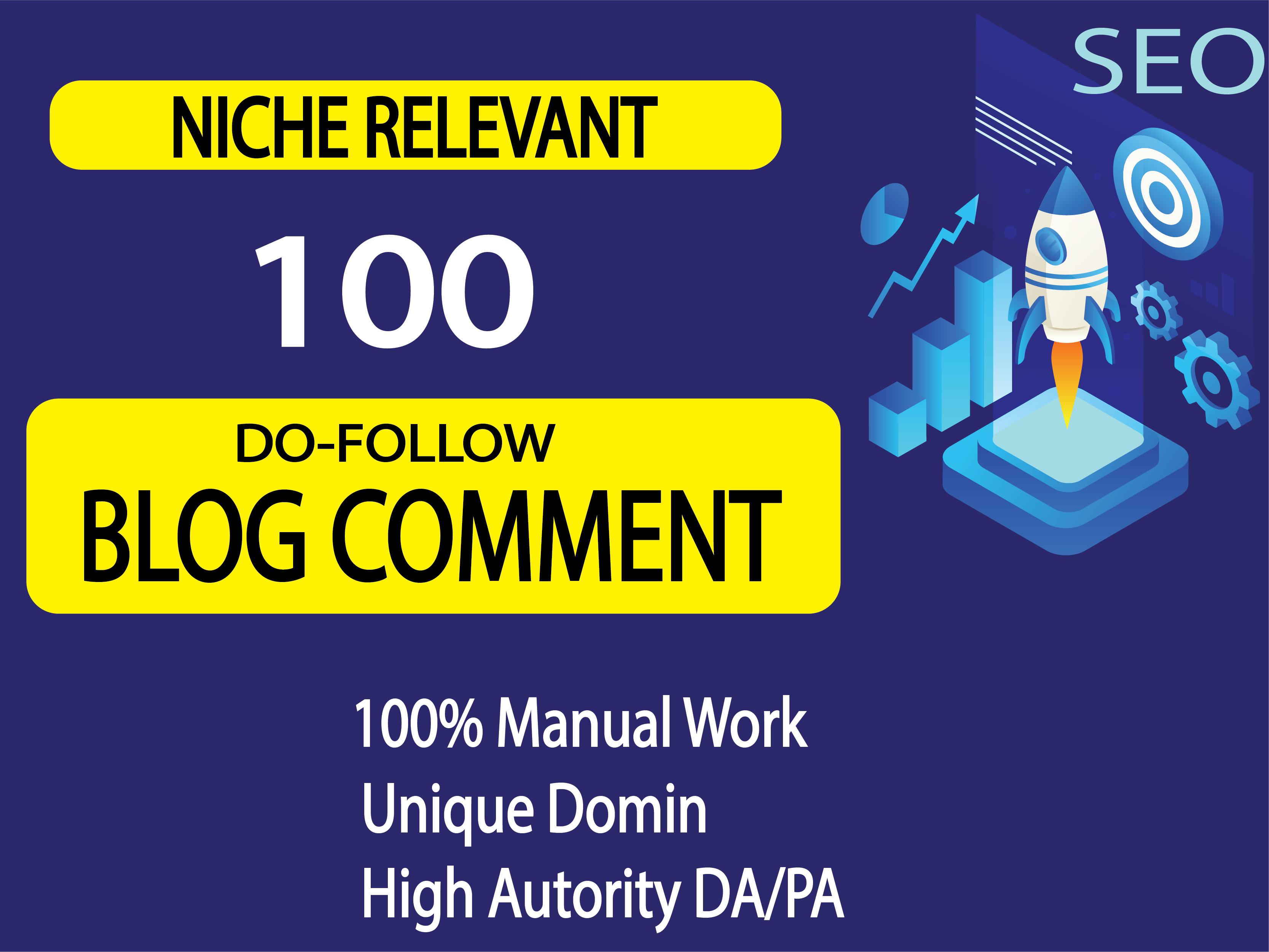 I will provide Manually 100 Blog commenting SEO backlinks