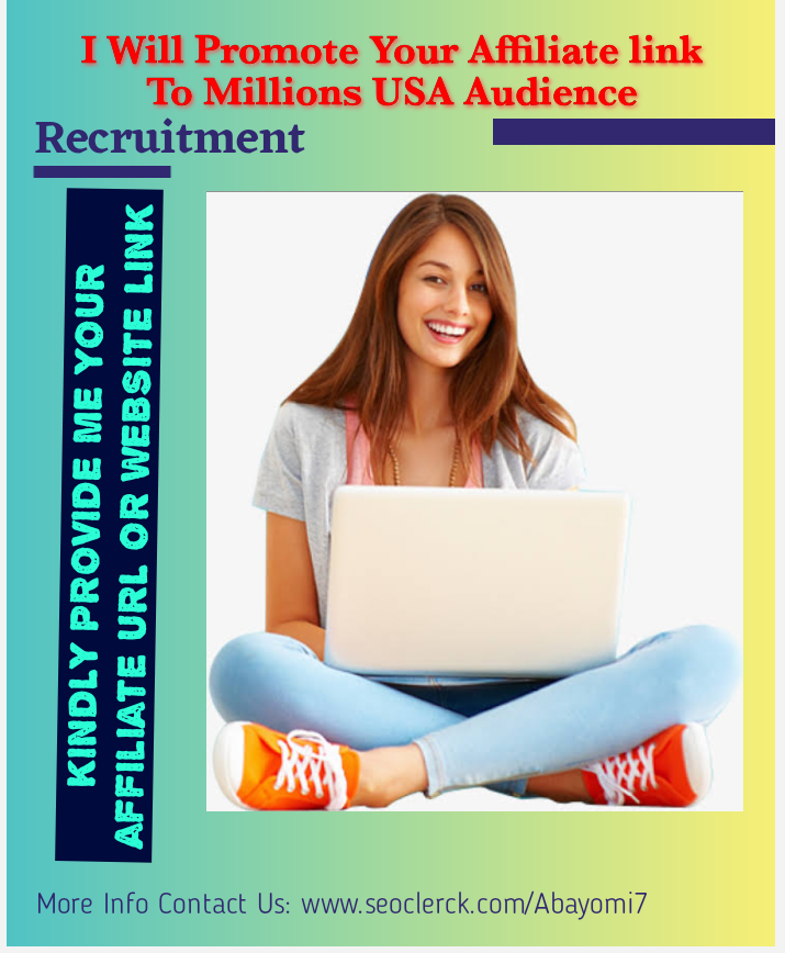 I will promote your affiliate websites to millions of USA audiences