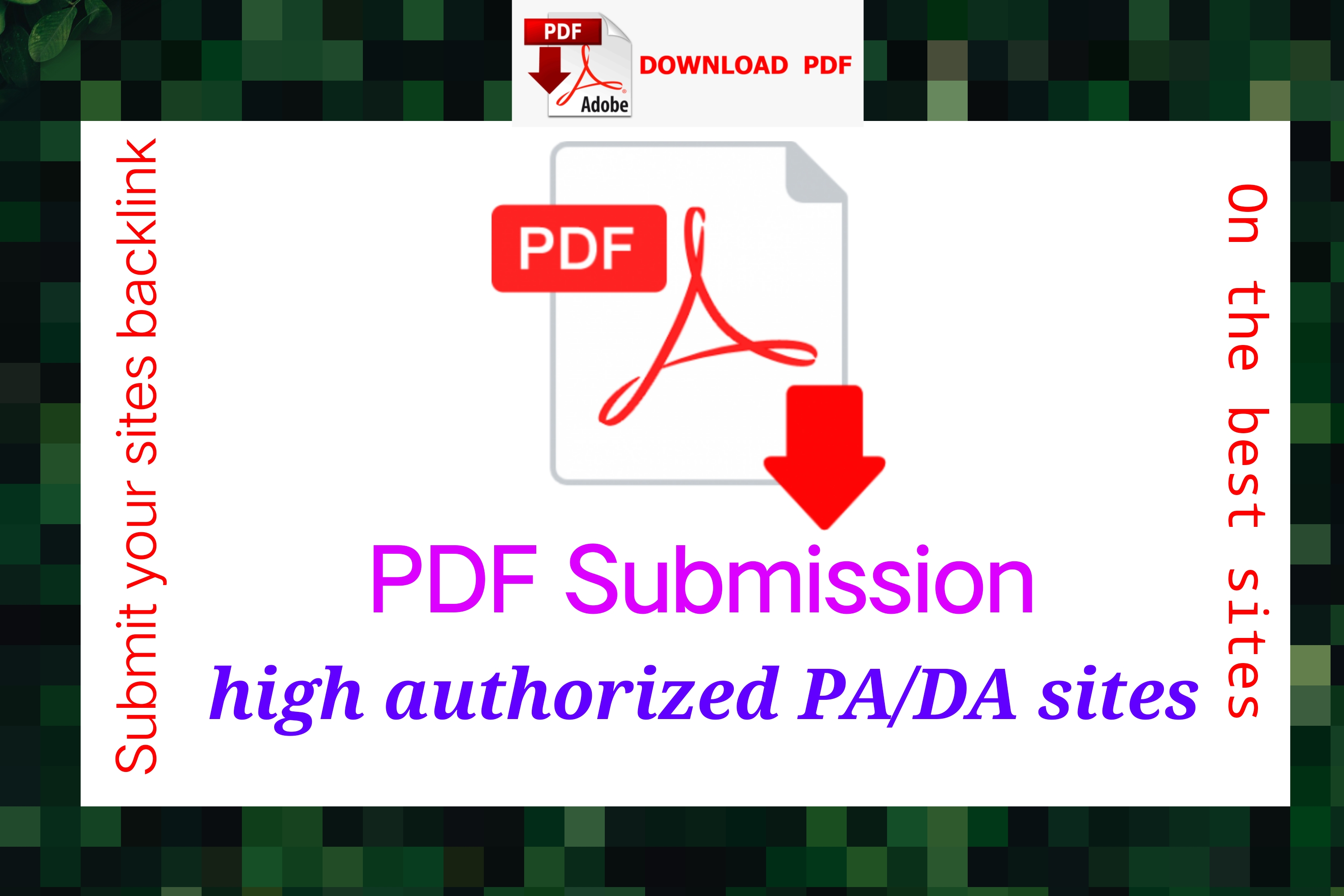 PDF submission on 25+ best dofollow sites