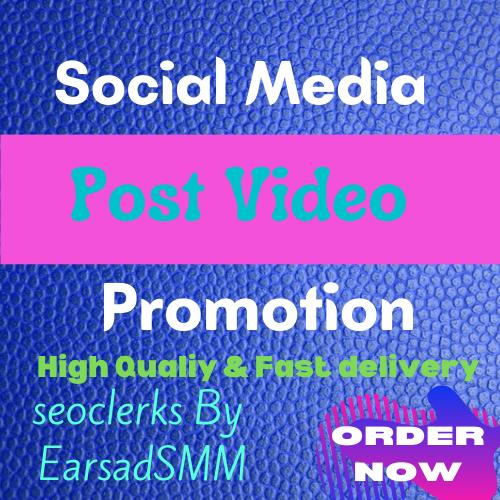 Get Fast social media video promotion