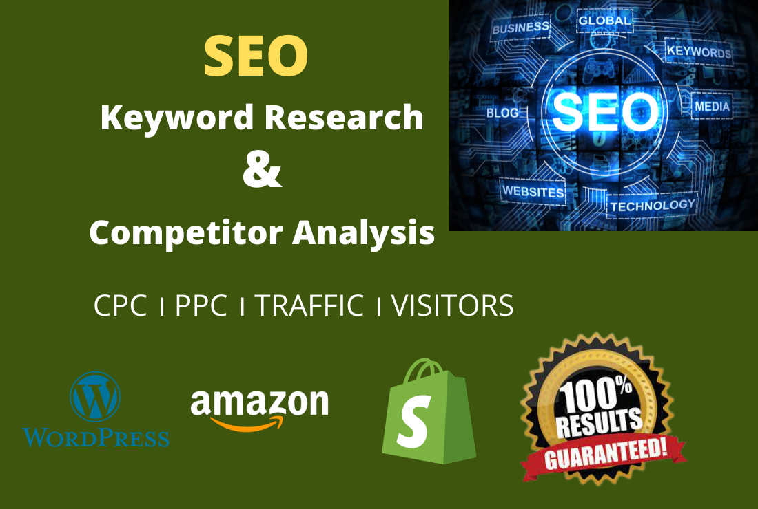 SEO Keyword Research & Competitor Analysis For Google Top Ranking