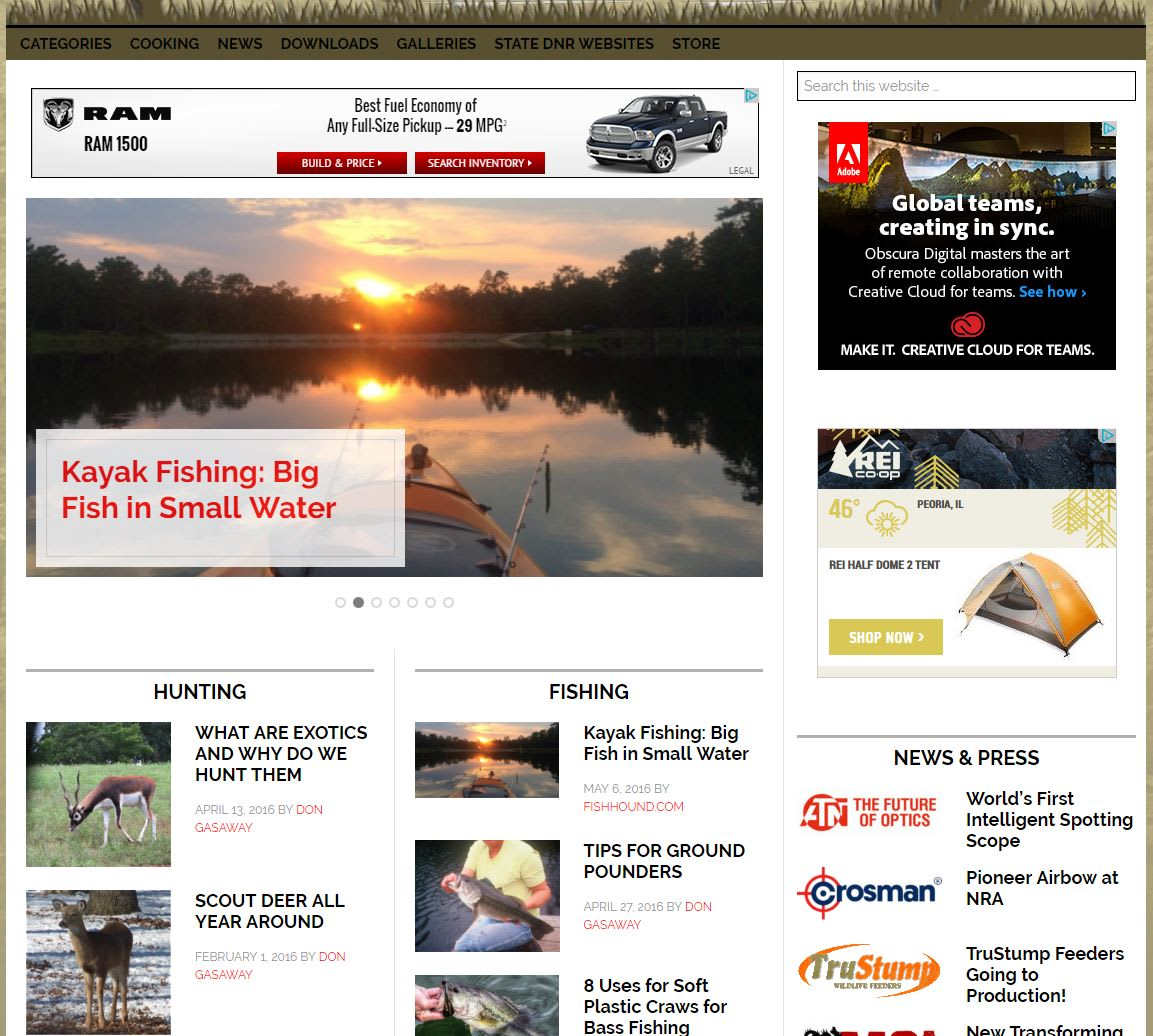 I will publish your guest post on my established hunting and fishing website